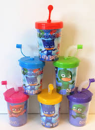 pj masks party favor cups pj masks birthday party personalized