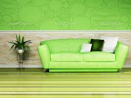 Lime Green Sofa by Bright Green Sofa With Bright Interior Design With A Nice Sofa And