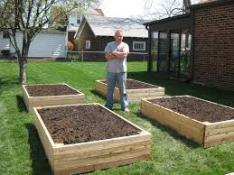bp builds four raised garden beds raised gardens garden beds