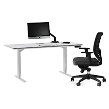 White Desk With Glass Top by Bdi Centro White Executive Modern Lift Desk Eurway