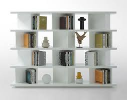 enitial lab mateo open back bookcase white modern bookcases