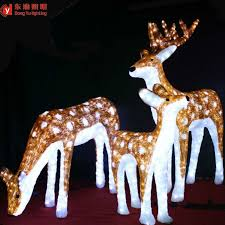 Christmas Animated Reindeer Decorations by Christmas Outdoor Decoration Animated Led Christmas Reindeer Buy