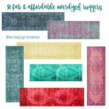 friday u0027s finds fab u0026 affordable overdyed runner rugs the happy