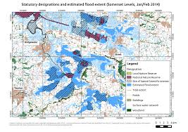 Somerset England Map Flooding And Food Using Gis To Assess The Impacts Of The 2014