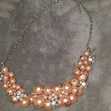 pink pearls necklace images 47 off jewelry pink pearl necklace from beth 39 s closet on poshmark jpg