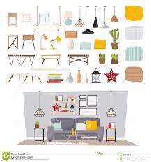 vector home decor interior design stock vector image 72392015
