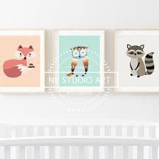 Raccoon Nursery Decor Best Fox Woodland Baby Decor Products On Wanelo