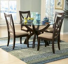 homelegance stardust 3 piece round glass dining room set in