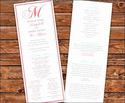 one page wedding program template one page program template ggfte luxury free for wedding program
