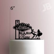 w cake topper custom welcome to fabulous las vegas nevada sign wedding 225 041
