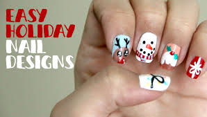 easy holiday nail designs youtube