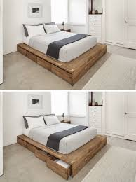 Wooden Platform Bed Frame Plans by 9 Ideas For Under The Bed Storage Eight Large Rolling Drawers