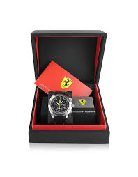 ferrari black ferrari scuderia ferrari black chrono watch in black for men lyst