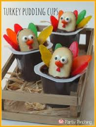 turkey pudding cups thanksgiving ideas easy thanksgiving
