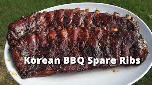 korean style spare ribs spare ribs korean style on big green egg