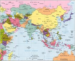 middle east map water bodies a map of all bodies water in japan within central and east asia