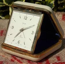 Linden Mantel Clock Vintage Mid Century Swiza 7 Jewels Swiss Made Travel Alarm Clock