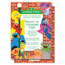 sesame street party invitations plumegiant com