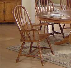 Dining Room Stools by Solid Oak Dining Table U0026 Arrowback Chair Set By E C I Furniture