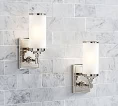 Polished Nickel Bathroom Accessories by Benchwright Tube Sconce Set Of 2 Polished Nickel Bath