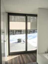 sheer solar shades cover large windows from outside custom