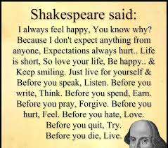 Think Before You Text Your - did william shakespeare really say that impressions