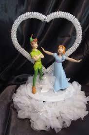 pan cake topper sweet pan wendy disney and groom moonlight wedding