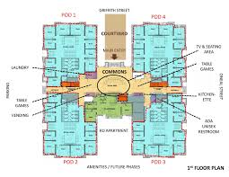 floor plan student center ball state university arafen