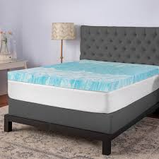 biopedic 4 in gel swirl king memory foam topper 94132 the home