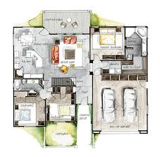 Sketch Floor Plan Real Estate Watercolor 2d Floor Plans Part 3 On Behance