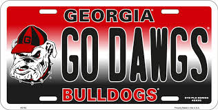 uga alumni car tag novelty license plates ncaa college teams fan gear car truck