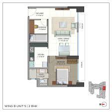 2bhk Plan by Omkar Realtors Builders Omkar Meridia Floor Plan Omkar Meridia