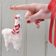 woolly llama christmas decoration by thelittleboysroom