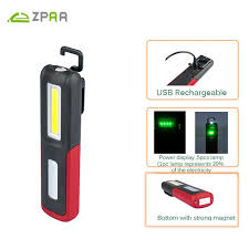 rechargeable magnetic work light powerful portable 3000 lumens cob led flashlight magnetic