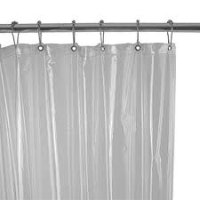 Hookless Vinyl Shower Curtain Bathroom Extra Long Shower Curtain Liners Hookless Shower