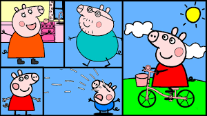 peppa pig coloring pages part 2 peppa pig coloring book youtube