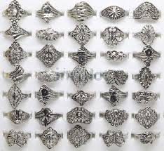 silver rings vintage images 2018 ring jewelry mix tibet silver rings vintage assorted rings jpg