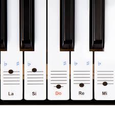 Meilleur Marque De Piano Autocollants Keysies Amovibles En Plastique Transparent Pour