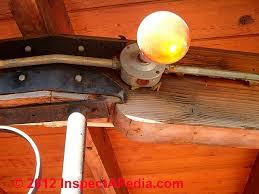incandescent luminaire outdoor lighting exterior light fixture inspection defects