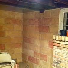 ugly gym wall cinder block walls block wall and basements