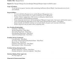 Banquet Waiter Resume Server Job Description Picture Gallery Of Job Description In