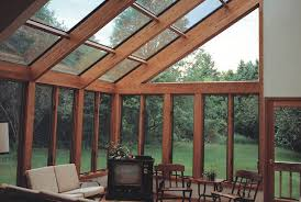 Glass For Sunroom Four Seasons System 8 Sunroom Straight Eave Glass Roof Wood