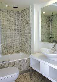 Stunning Mozaic Tiled Wall Bathroom Interior Epic White Bathroom Decoration Using White Glass Mosaic