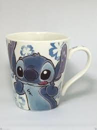disney lilo u0026 stitch mug cup fuzzy pattern glass cute for lunch