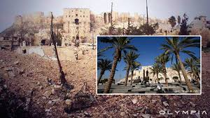 syria before and after aleppo before after shocking images underscore war devastation of