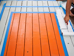 spruce up a deck with a painted