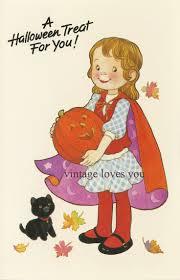 vintage halloween paper doll card via etsy arielle gabriel