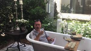 outdoor bathtub youtube
