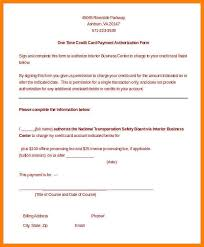 credit card authorization form template blank 100 images