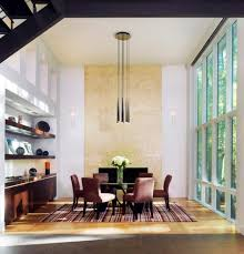 lighting solutions for high ceilings dining room contemporary with